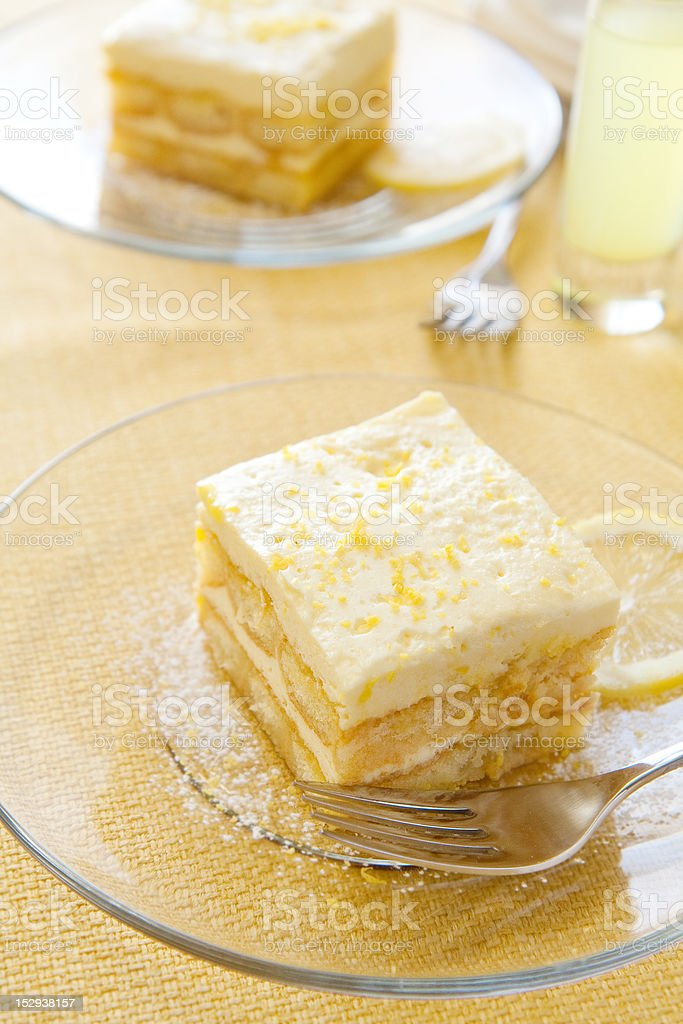 Lemon Tiramisu royalty-free stock photo