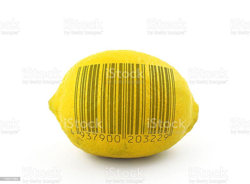 lemon to scan stock photo