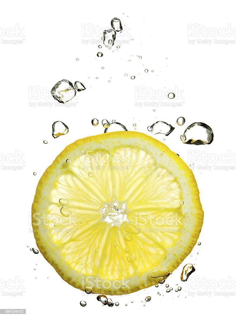 lemon under water stock photo