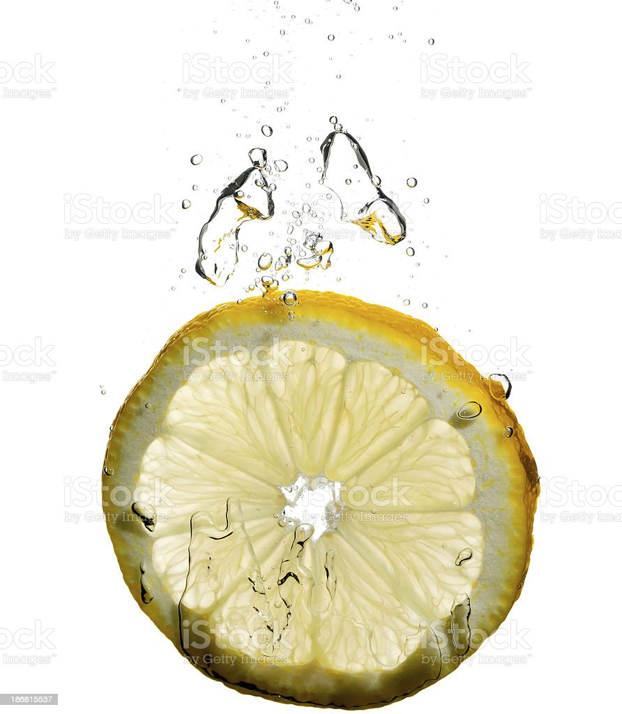 lemon under water royalty-free stock photo