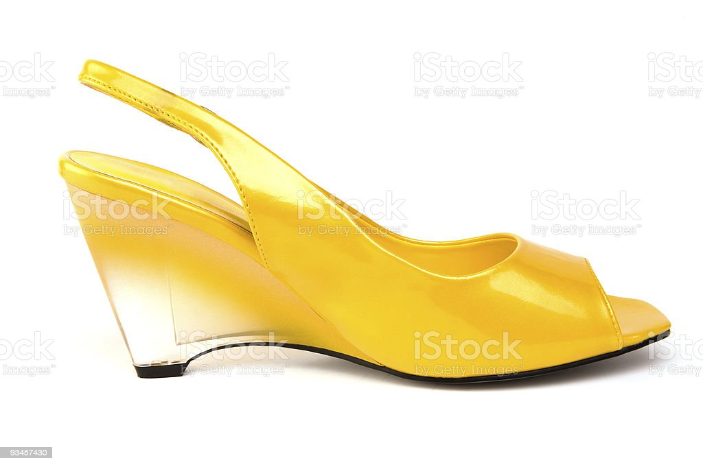 Lemon Wedge Shoe royalty-free stock photo
