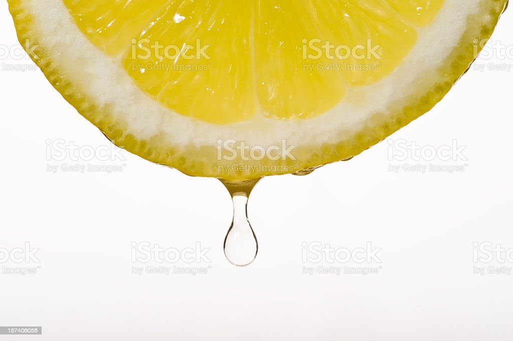 Lemon with droplet stock photo