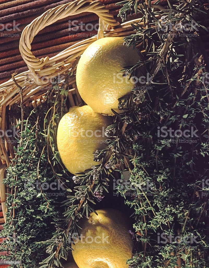 Lemon with Herbs royalty-free stock photo