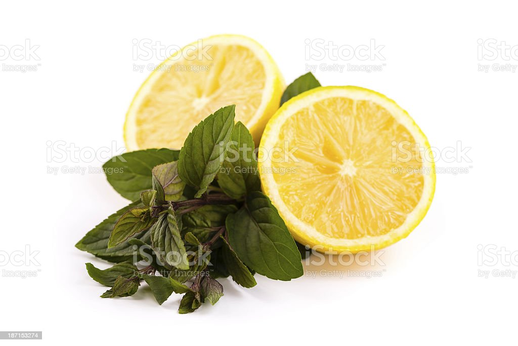 lemon with mint royalty-free stock photo