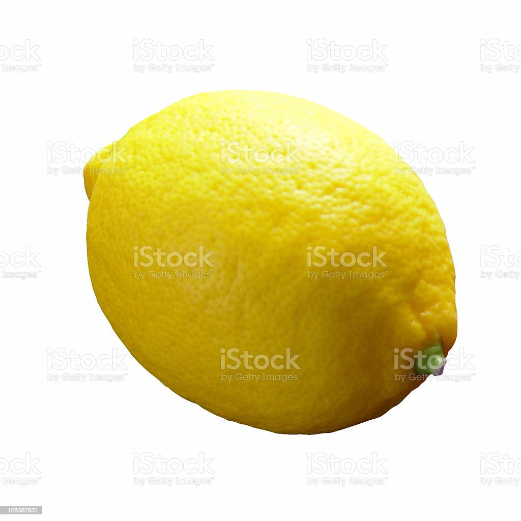 Lemon with white background stock photo