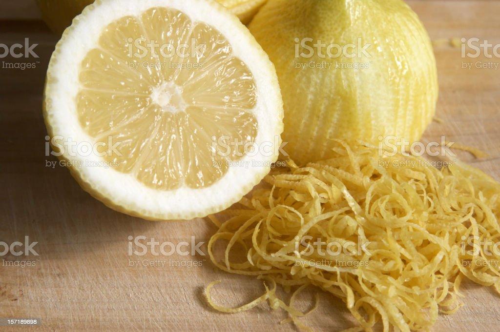 Lemon with zest stock photo