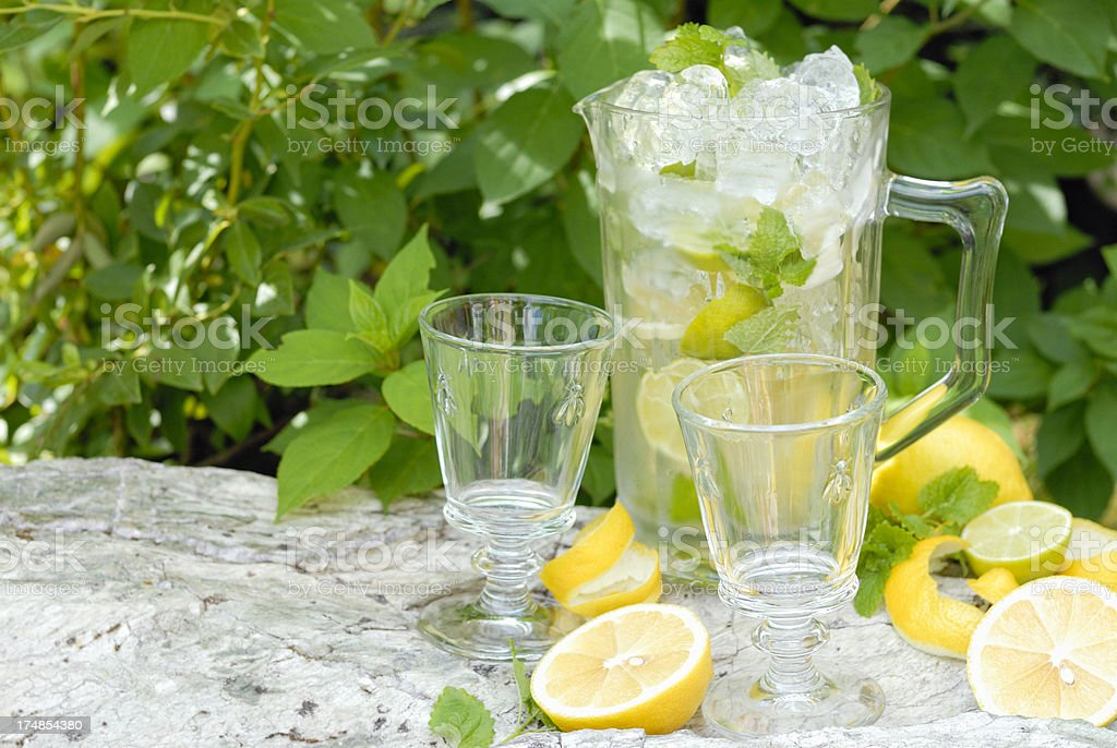 Lemonade Drink with Mint on Ice royalty-free stock photo