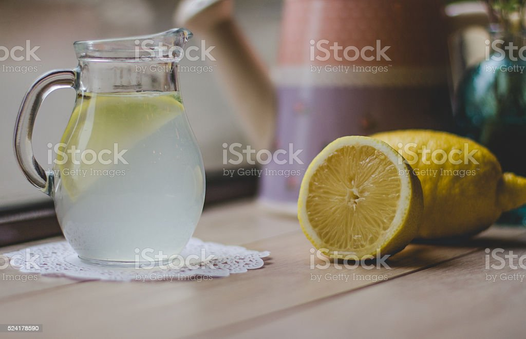 Lemonade in jar stock photo