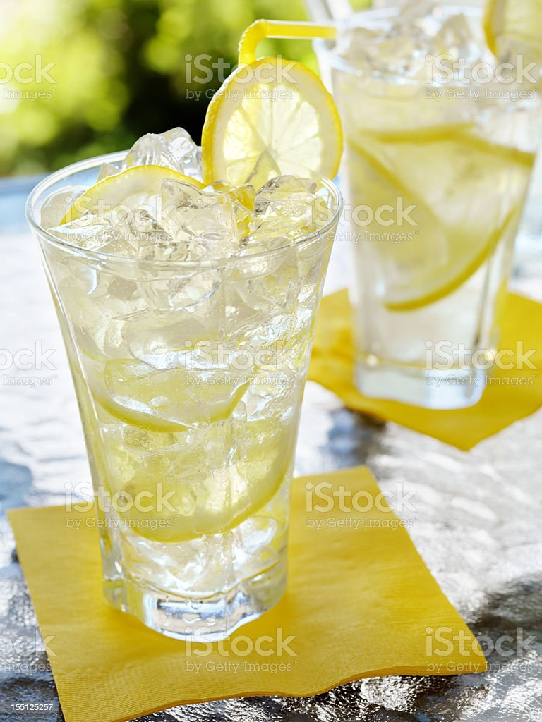 Lemonade on an Outdoor Patio royalty-free stock photo
