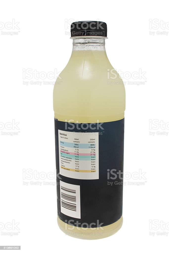 lemonade plastic one litre bottle stock photo
