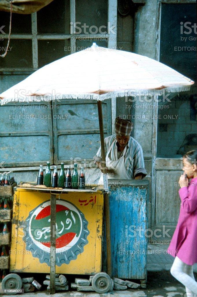 Lemonade seller, Cairo stock photo