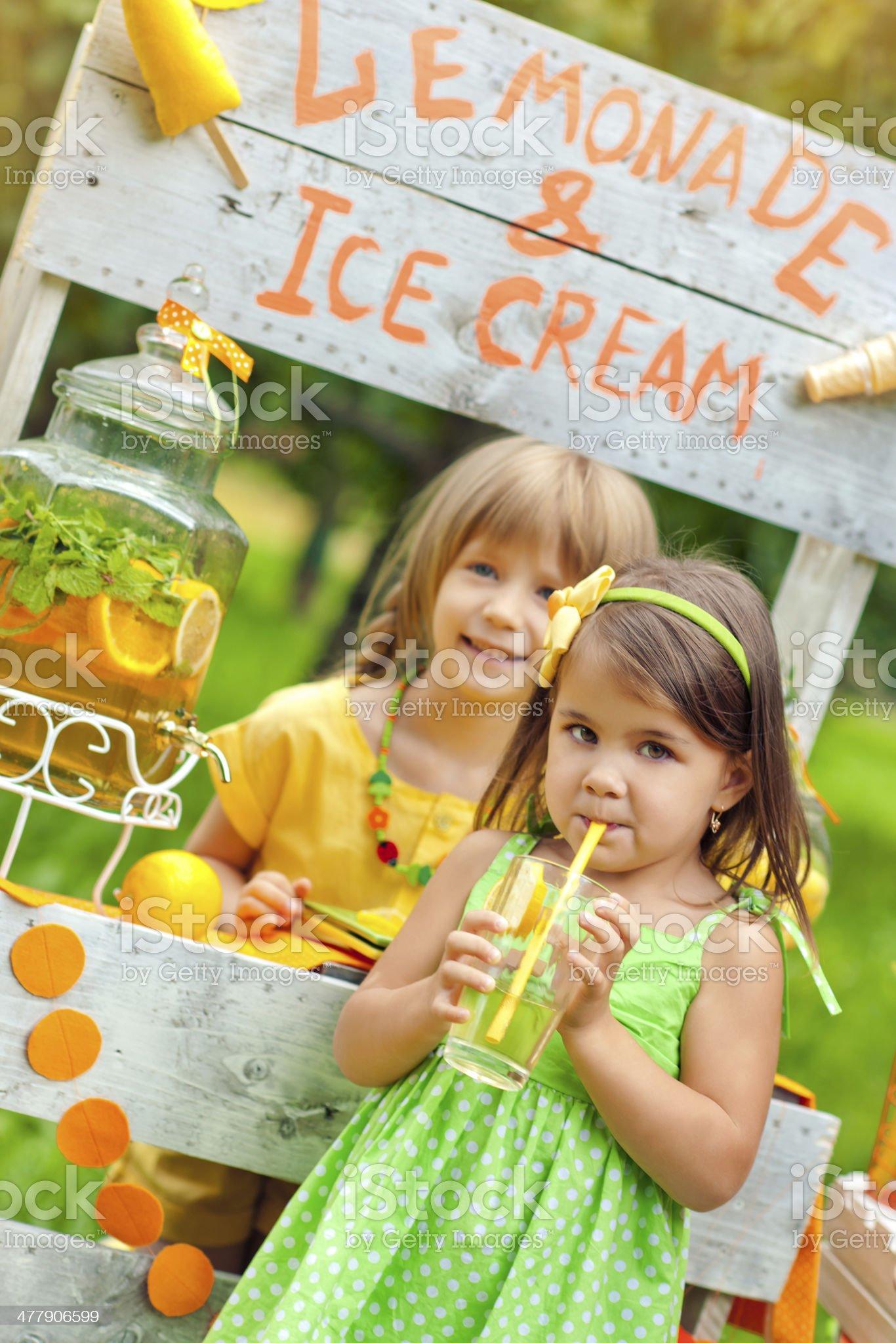 Lemonade stand royalty-free stock photo
