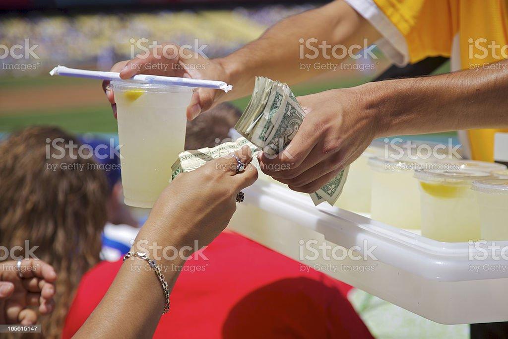 Lemonade Vendor at baseball game royalty-free stock photo