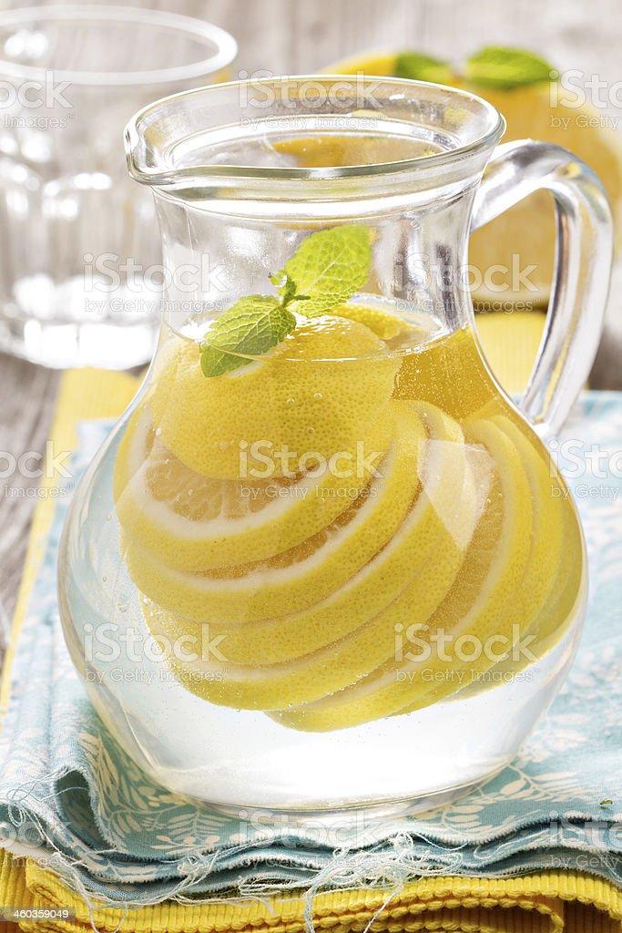 Lemonade with mint and lemon royalty-free stock photo