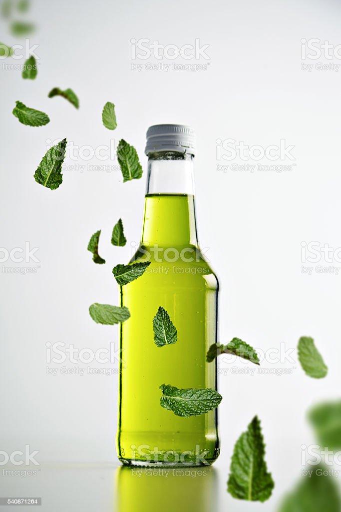 Lemonades, cocktail with ice mockup summer set stock photo