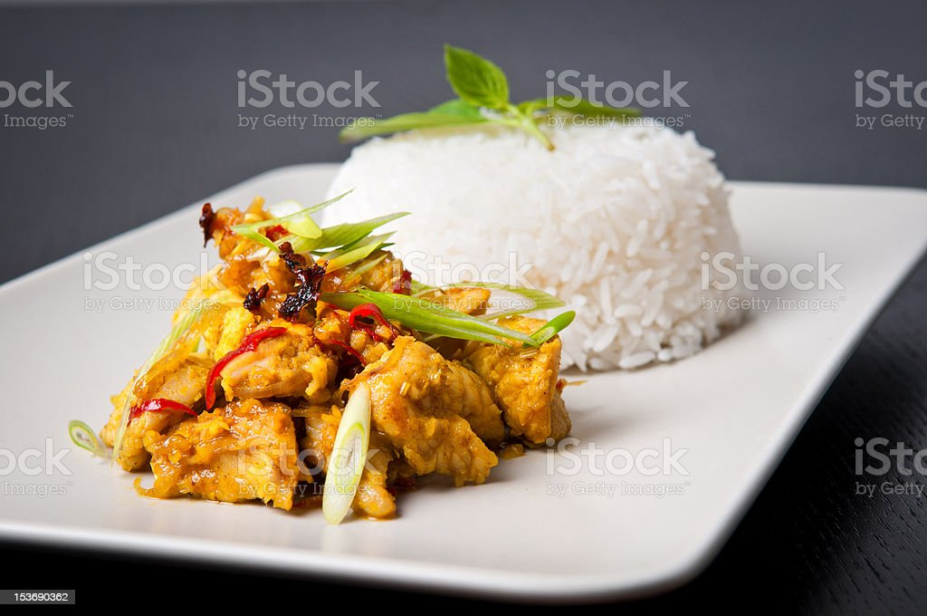 Lemongrass chicken dish royalty-free stock photo