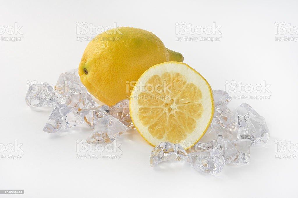 Lemons and Ice stock photo
