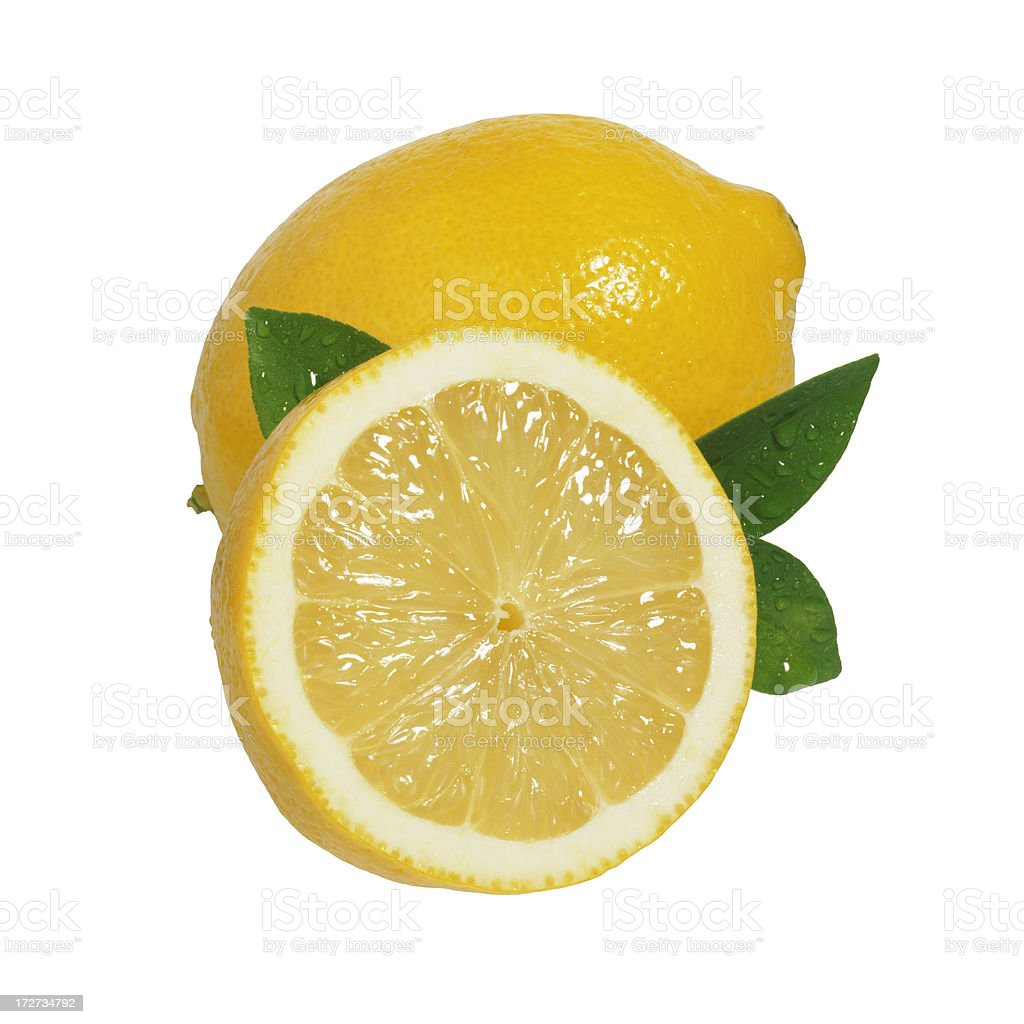 Lemons and Leafs stock photo