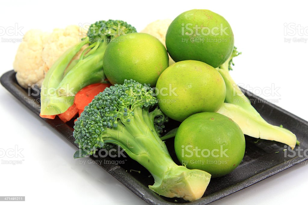 Lemons and vegetables set royalty-free stock photo