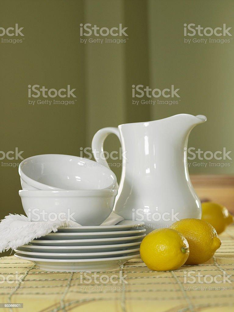 Citrons et blanc plats photo libre de droits
