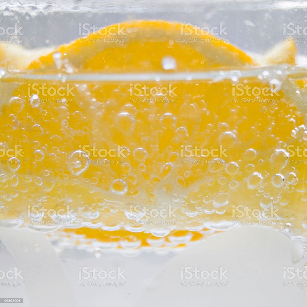 Lemons & Bubbles royalty-free stock photo