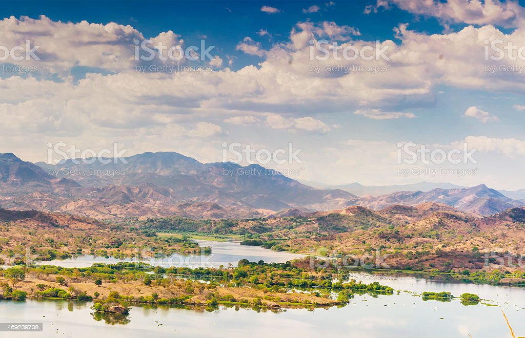 Lempa River reservoir, El Salvador stock photo