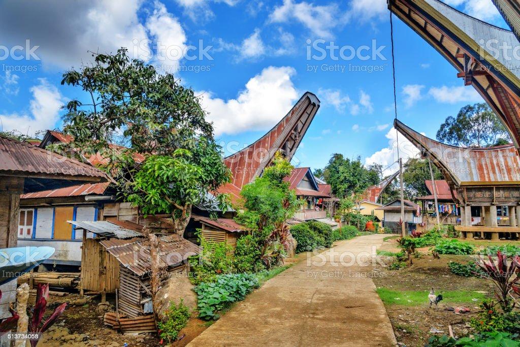 Lempo village in Tana Toraja stock photo
