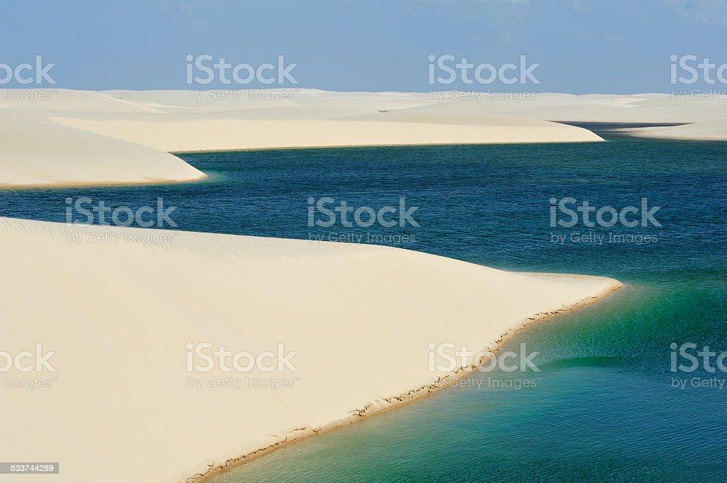 Lencois Maranhenses National Park, Brazil stock photo