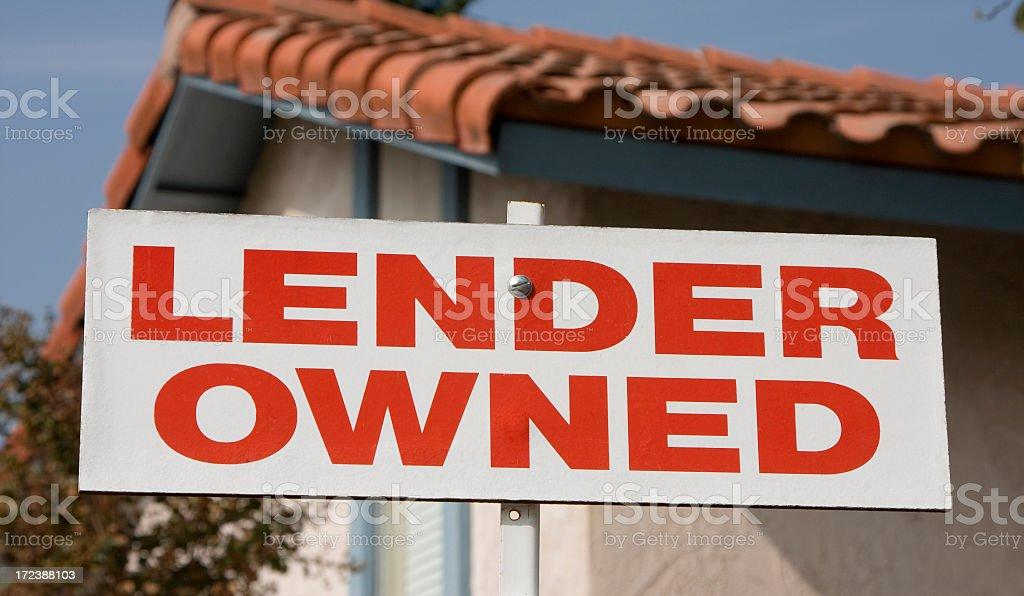 lender owned stock photo