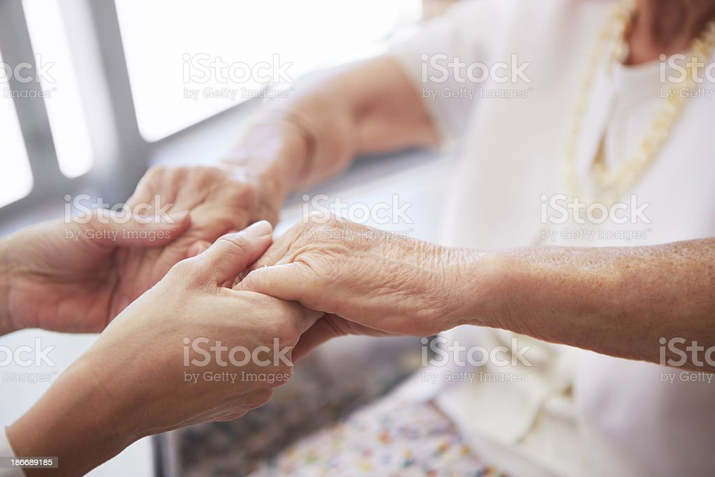 Lending a helping hand royalty-free stock photo