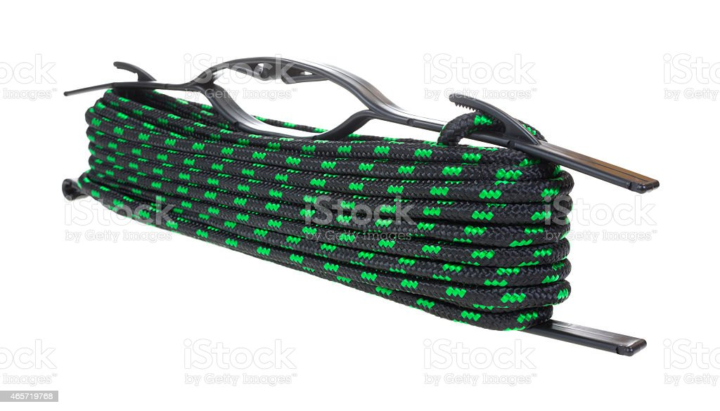 Length of rope with holder stock photo