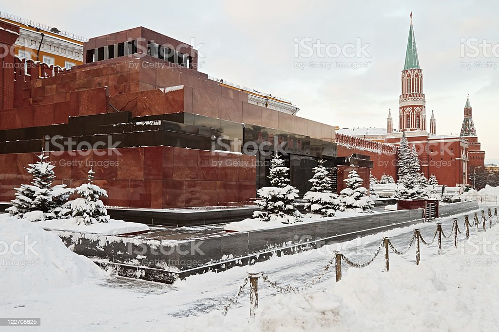 Lenin's Mausoleum, Moscow stock photo