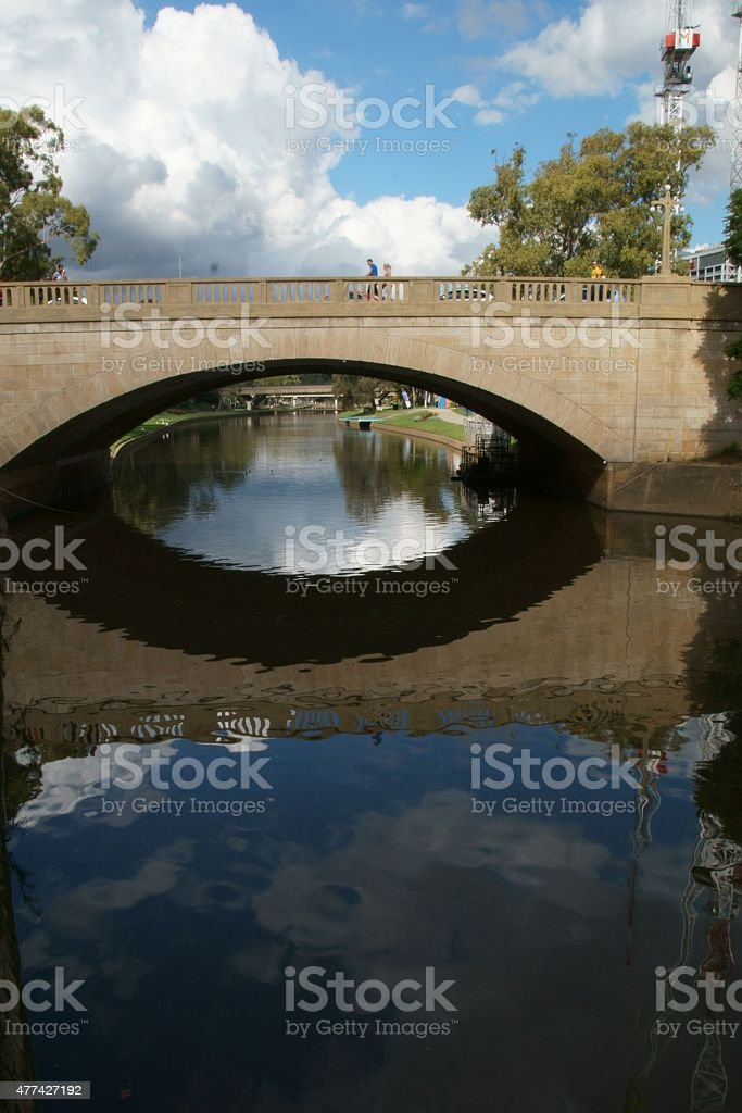 Lennox Bridge in Parramatta, Australia. stock photo
