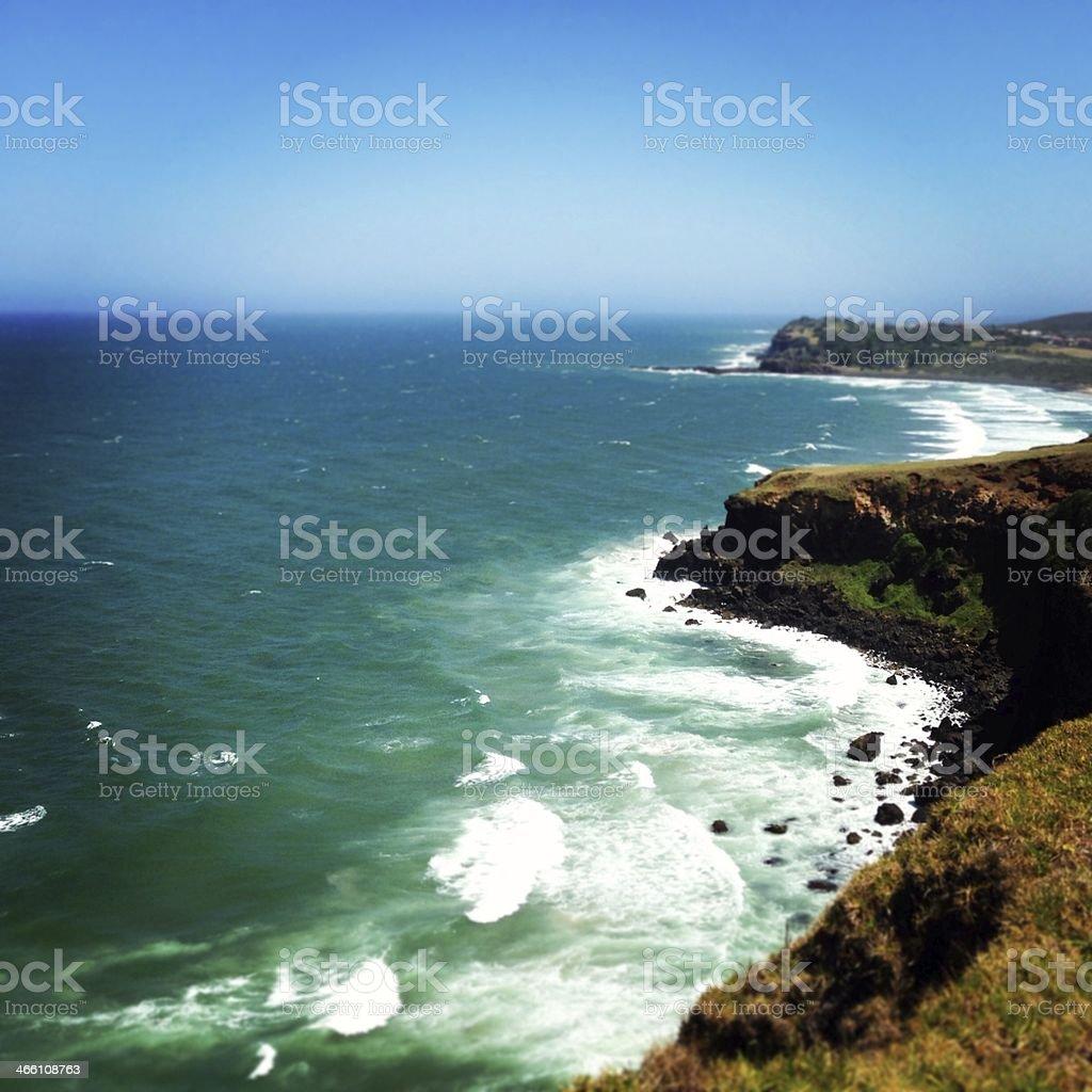 Lennox Head Cliff stock photo