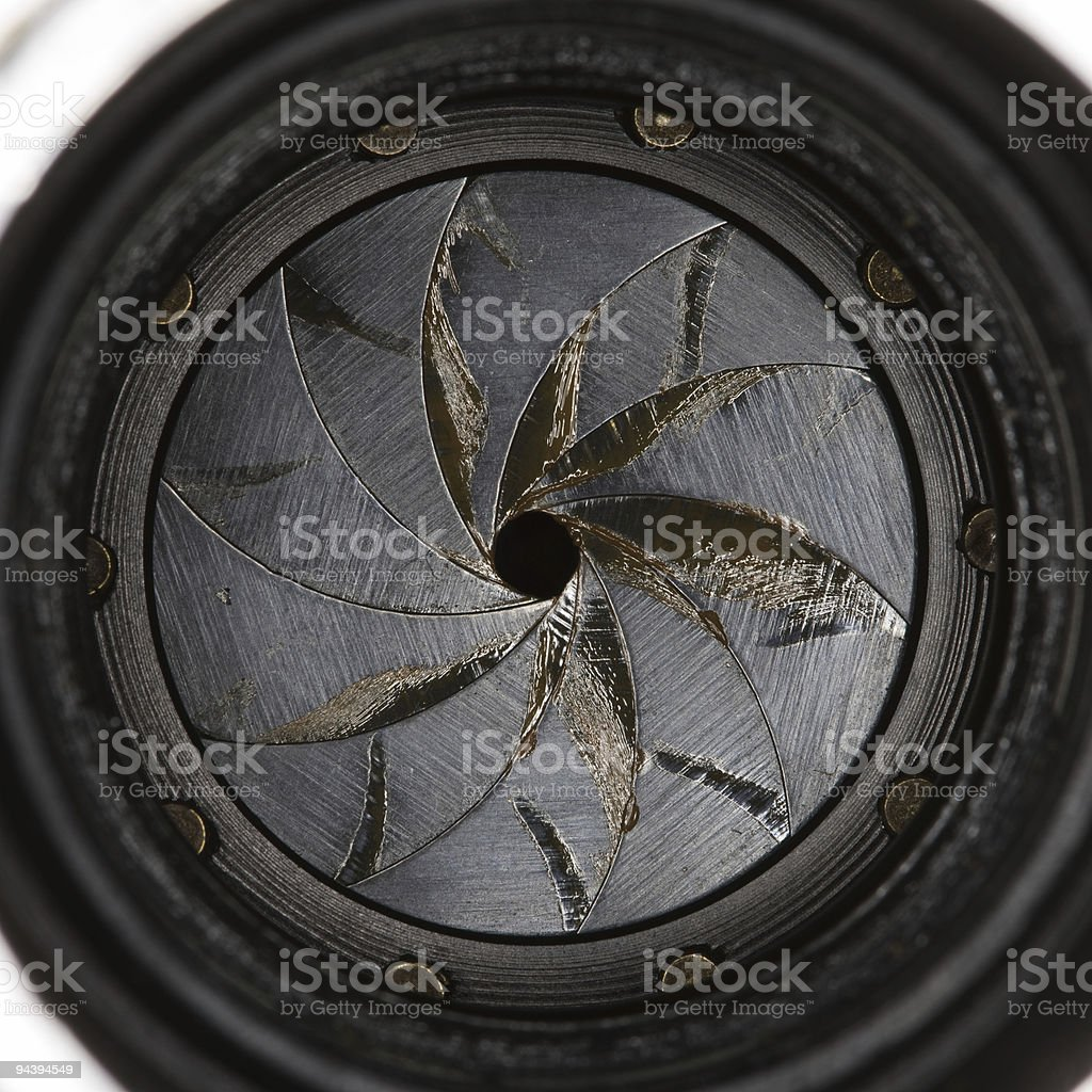 Lens aperture royalty-free stock photo