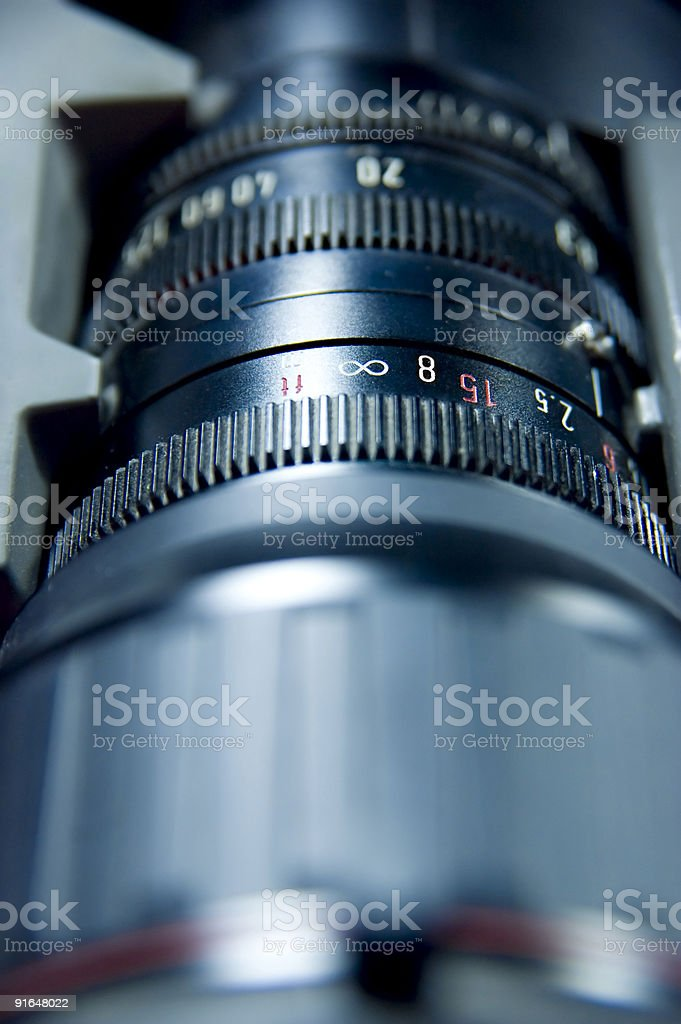 Lens aperture scale royalty-free stock photo