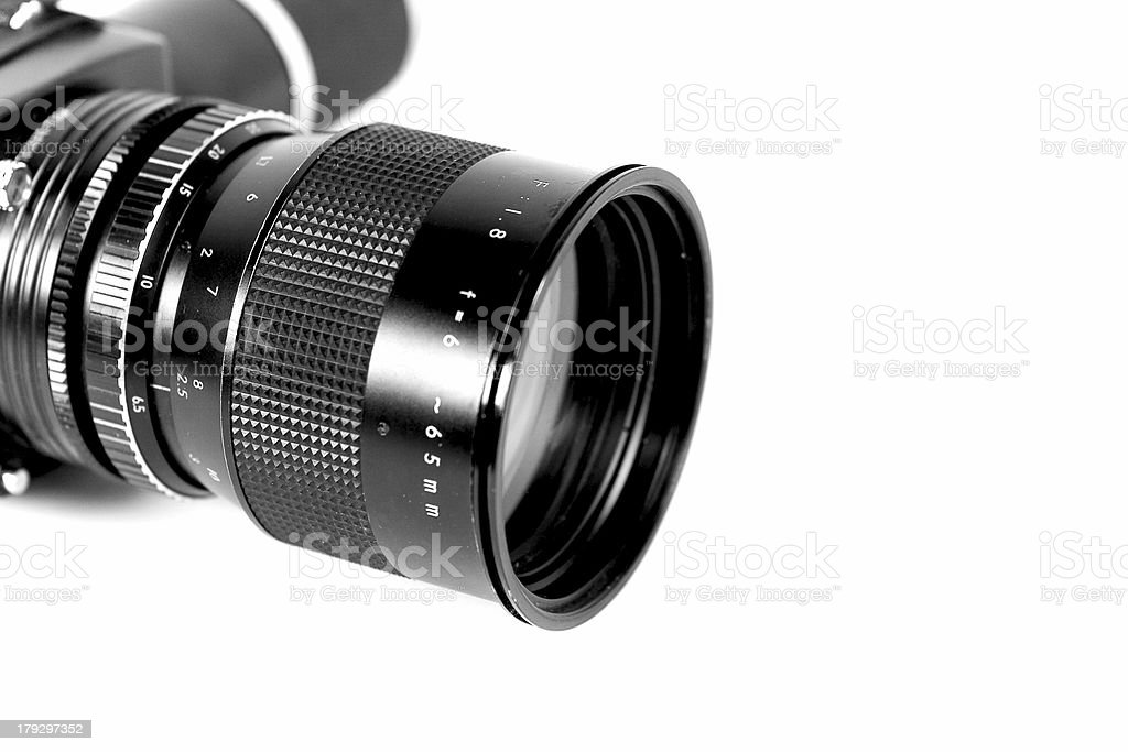 Cinecamera lens royalty-free stock photo