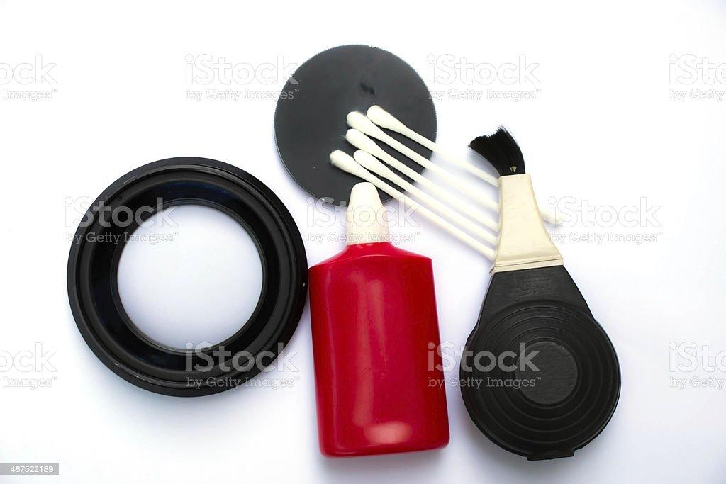 Lens cleaner stock photo
