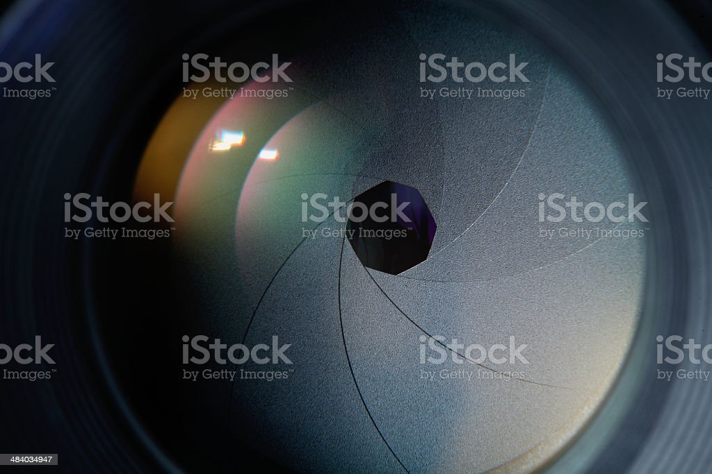 lens diaphragm stock photo