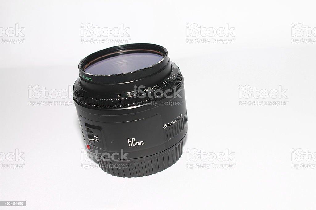 Lens fix 50mm f1.8 royalty-free stock photo