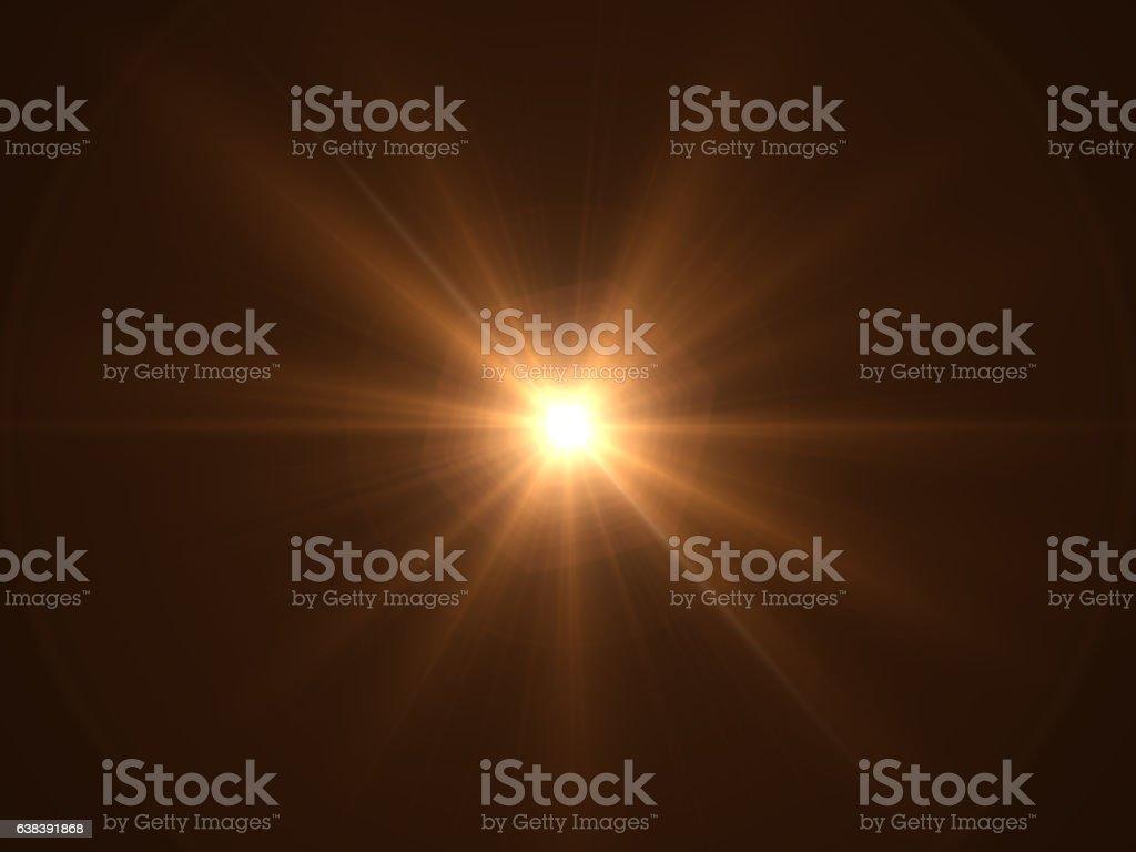 Lens Flare - Black Background stock photo