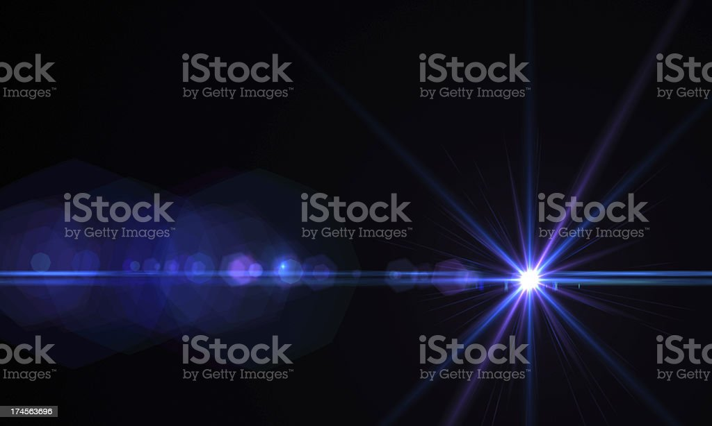 Lens flare effect stock photo