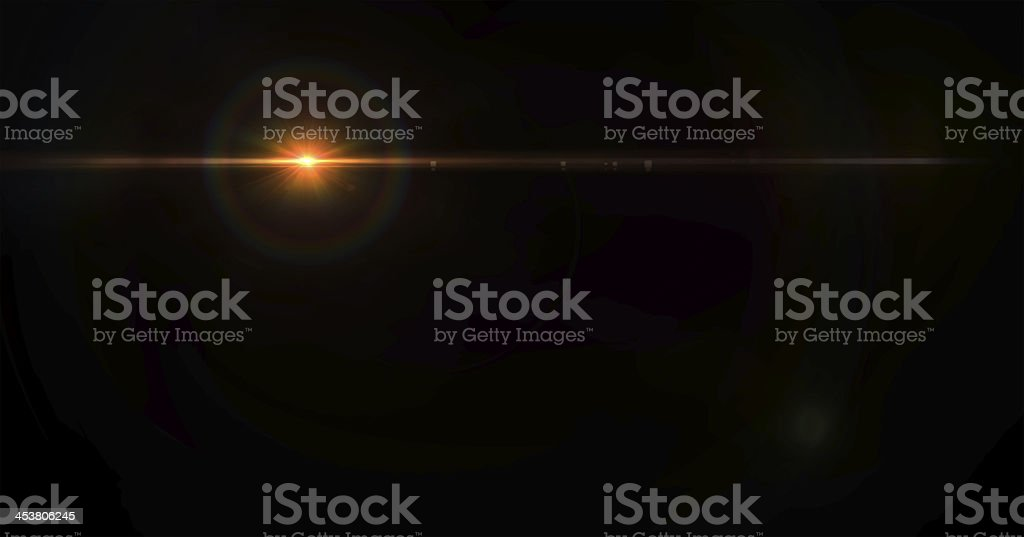 Lens flare effect royalty-free stock photo