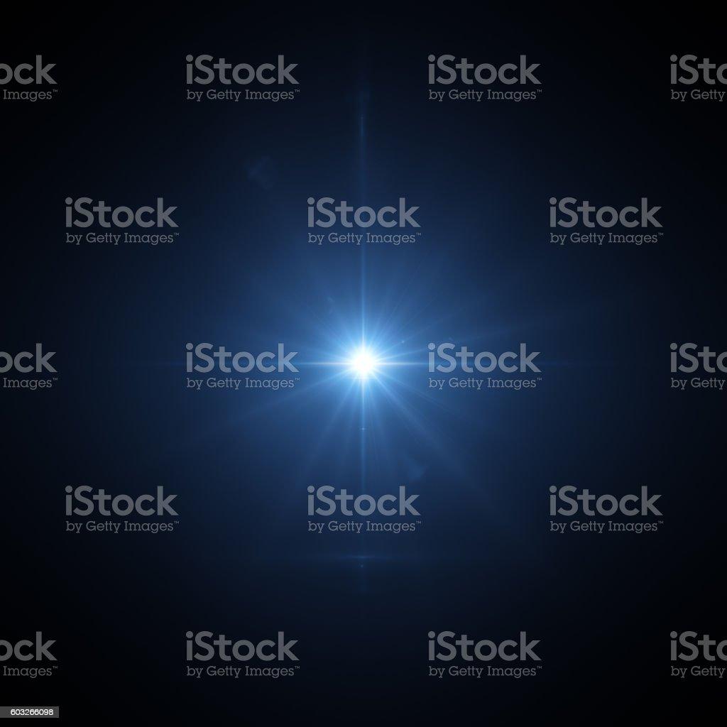 Lens flare on black stock photo