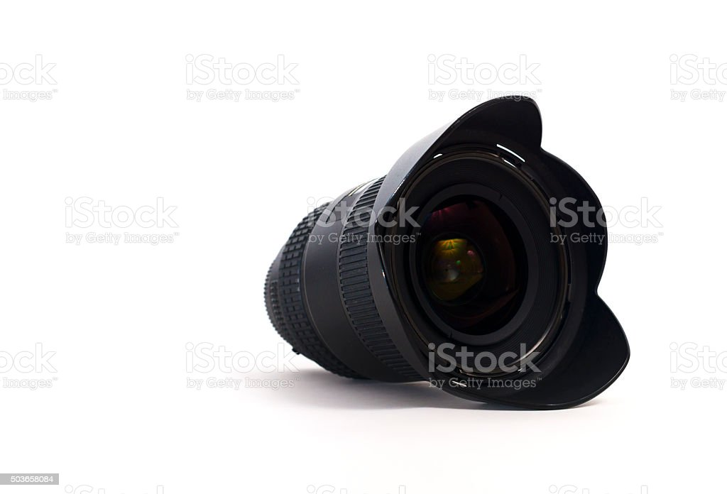 lens for the camera on a white background stock photo