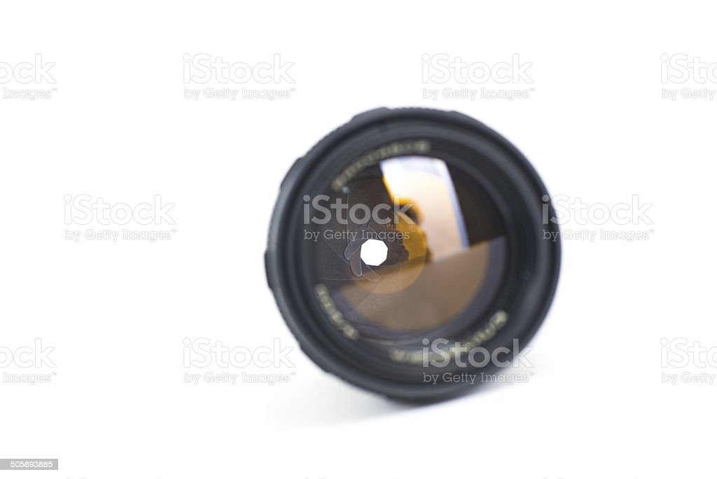 lens for the camera on a white background royalty-free stock photo