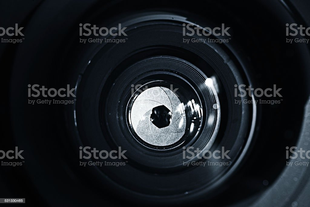 lens inside stock photo