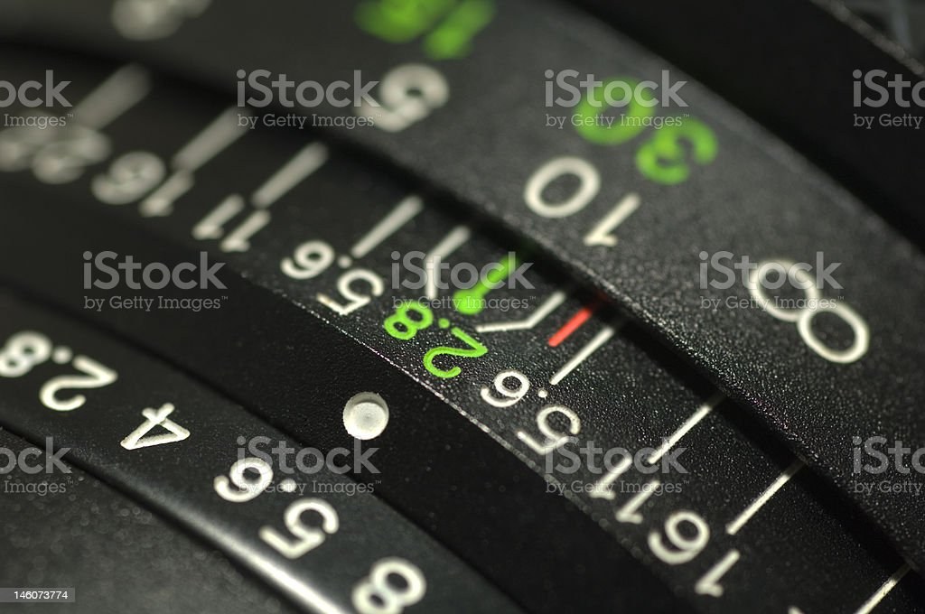Lens Numbers royalty-free stock photo