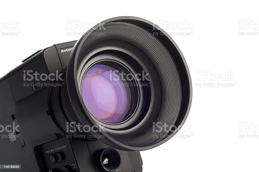 lens on white stock photo
