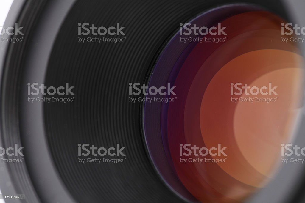Lens shutter colse-up (Focus on inside rim) royalty-free stock photo